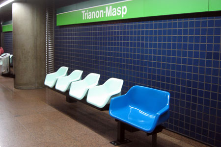 Obese Underground seats in Sao Paulo