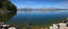 Jackson Lake Teton reflection (Matthew Field) Tags: panorama usa lake mountains reflection america nationalpark dam jackson wyoming teton tetons grandtetonnationalpark gtnp