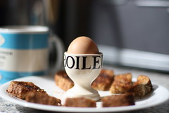 A Very British Breakfast (Ali Elan) Tags: breakfast tea toast egg wholemeal brunch soldiers buttered granary eggcup boiledegg britishbreakfast emmabridgewater penguinmug breakfastideas mymostperfectbreakfast