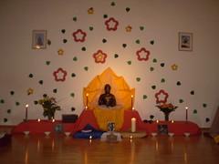 Shrine for Bhante's Birthday Puja 2009