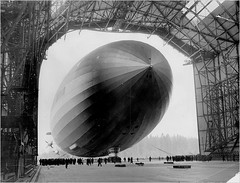 Hindenburg Taken in to Hangar (lazzo51) Tags: aviation science hindenburg blimps airships zeppelins luftschiff dirigibles lz129