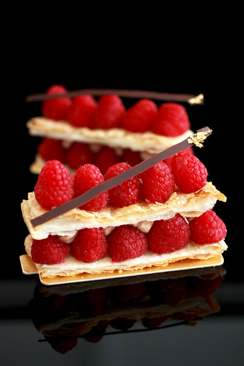 Millefeuille au Chocolat-Framboise