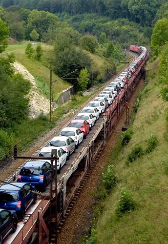 Güterzug - Autotransport