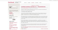 Interbrand Blog | Common Naming Mistake #5 - Trademarking_1252159359963