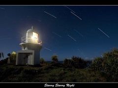 Fingal Lighthouse in moon light (danishpm) Tags: nightphotography lighthouse canon eos australia wideangle nsw aussie aus 1020mm startrails fingal sigmalens cookisland northernnsw eos450d fingalheads 450d tweedshire sorenmartensen