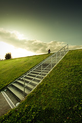 Hill (96dpi) Tags: sunset grass concrete person stair sonnenuntergang hill steps treppe gras volkspark beton stufen buga hgel ef14mmf28liiusm