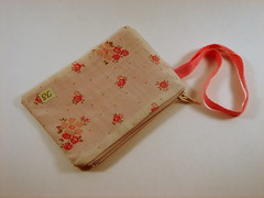 cream and pink (Toot Sweet!) Tags: handmade sewing crafts pouch etsy changepurse wristlet