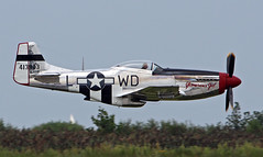 P-51 Mustang (EricRW) Tags: ohio us flying airport aviation military jet airshow usaf usairforce