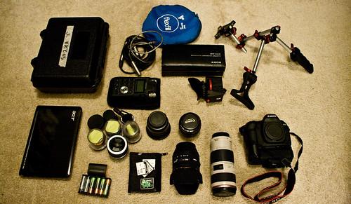 my DLSR video kit loadout