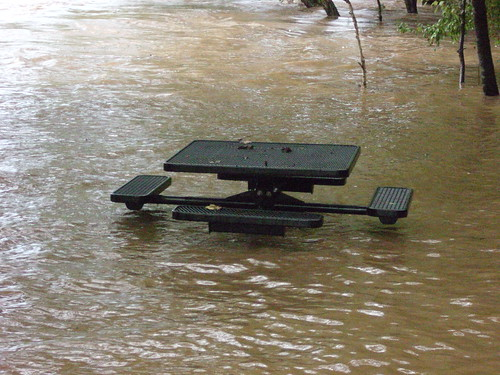 The Chattahoochee River flooding