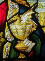 Chalice and dragon (tina negus) Tags: detail dragon stainedglass stjohn lincolnshire 1890 chalice kempe bardney