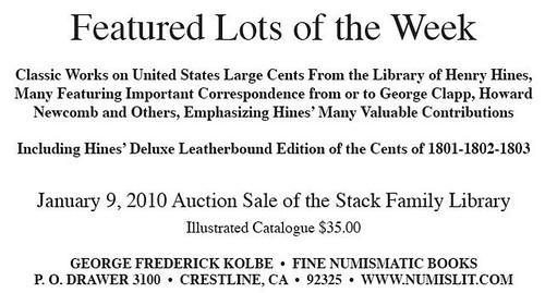 Kolbe 2009 Stack's ad 9