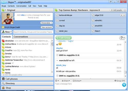 Skype 3.6 veikia su Windows 7 64bit!