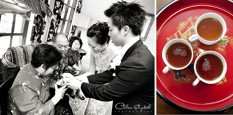 Chinese tea wedding ceremony image