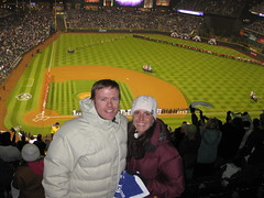 Natalie and I at Game 3 NLDS 2009