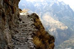 Steep slopes down Colca Canyon (thrudur84) Tags: peru uros cuzco cusco arequipa incatrail colca puno santacatalina islasflotantes