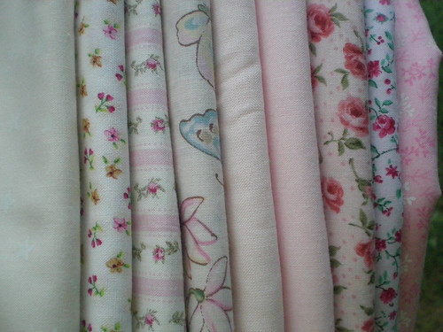 Fabrics for apple blossom quilt