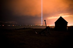 Imagine-Peace Tower (Kristinn R.) Tags: hope iceland treasure artistic chest wish johnlennon reykjavk soe yokoono viey flickraward imaginepeacetower goldstaraward friarslan absolutelystunningscapes nikonflickraward coppercloudsilvernsun