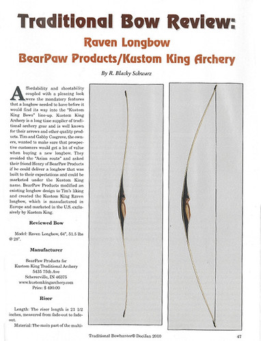 Traditional Bowhunter Review: Raven