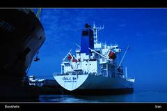 Booshehr seaport (shafiei...333) Tags: blue sea water boat persian gulf iran persia iranian seaport persiangulf  boushehr  bushehr booshehr  shafieisoork abolfazlshafieisoork