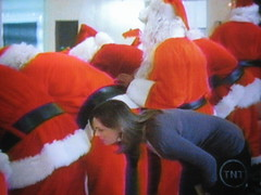 I never thought I'd see Emily Deschanel do this... (rosewithoutathorn84) Tags: santa emily funny comedy santas bones murder santacon brennan bizarre temperance deschanel