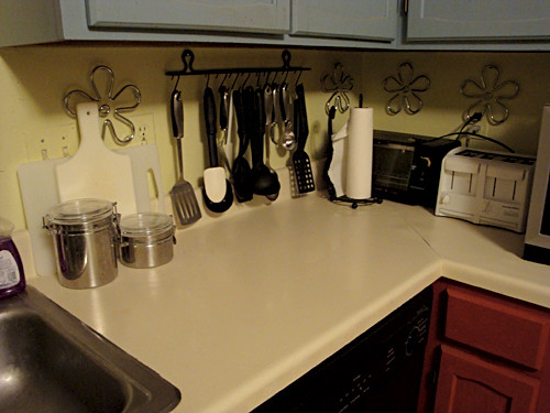 cleaned up kitchen