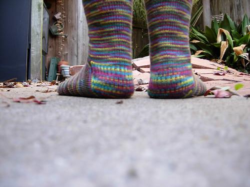 Toe-Up Slip Stitch Heel Sock