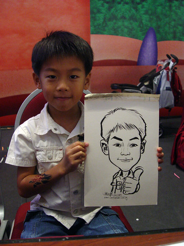 Caricature live sketching for Marina Square X'mas Tenants Gathering 2009 - 25