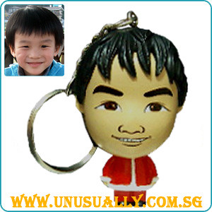 Custom Caricature Christmas Key Ring Mini Figurine