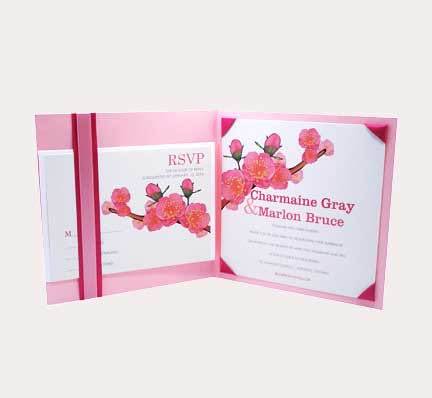 suelo creations spring custom wedding invitation1 wedding spring invitations