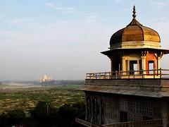 Taj Mahal from the Agra Fort