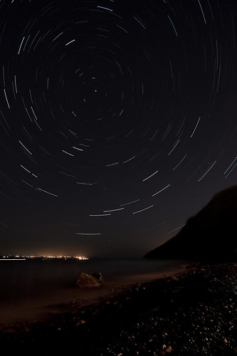 Startrails at Topsail Beach