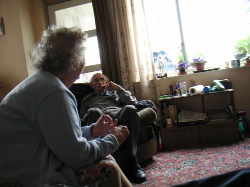 grandparents relaxing
