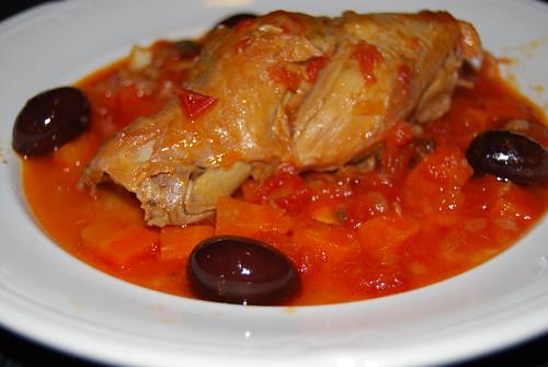konijn in pittige tomatensaus