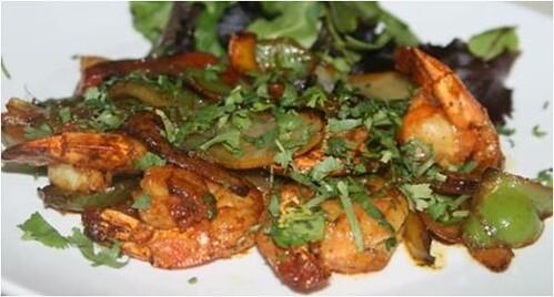 The shrimp  tadka was divine.