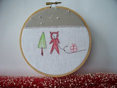 Forest Pixie (metro-station) Tags: bear christmas forest woodland christmastree pixie sled