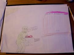 """H's illustrations for her """"King Goblin"""" story"""