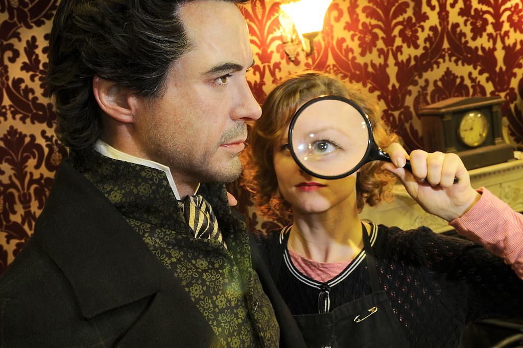 Sherlock Holmes Robert Downey Jr. wax Madame Tussauds