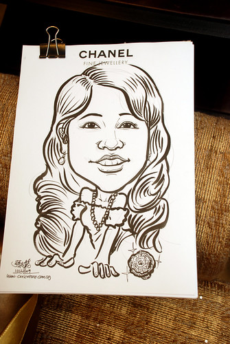 Caricature live sketching for Chanel Day 1 - 4