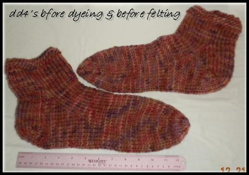 DD4's Felted Slippers - before felting