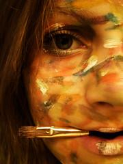 the next Picasso (Janina Mhlenhardt) Tags: christmas xmas eye art colors face mouth hair nose paint colours lashes eyelashes brush picasso merry okay blueribbonwinner