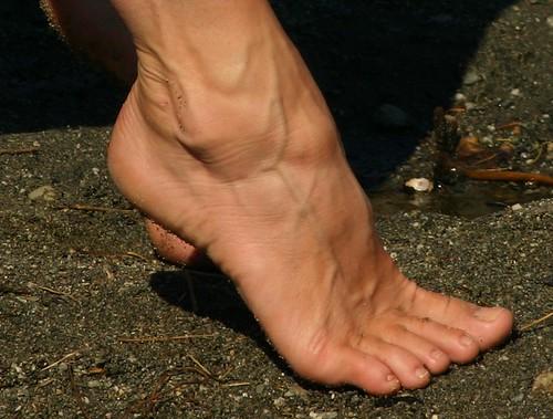 Veiny female feet
