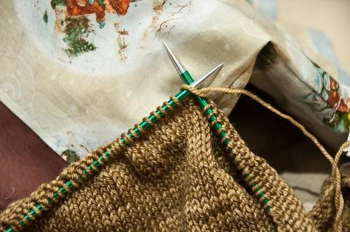 Cedar Leaf Shawlette - WIP