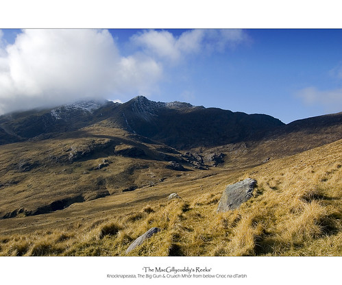 The MacGillycuddy's Reeks - Knocknapeasta, The Big Gun and Cruach Mhór.