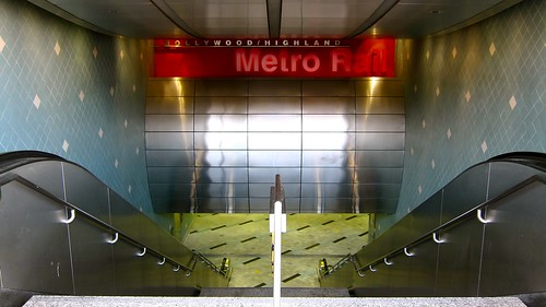 Hollywood and Highland Metro Stop