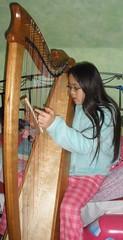 Sophia Playing the Harp