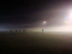 night soccer in mist (75kombi) Tags: sony dsc sonycybershot w150 sonydscw150 sonyw150