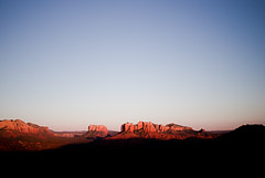 Shadow Creeping (Benjamin Postlewait) Tags: shadow arizona southwest desert sedona redrocks cloudless cathedralrock