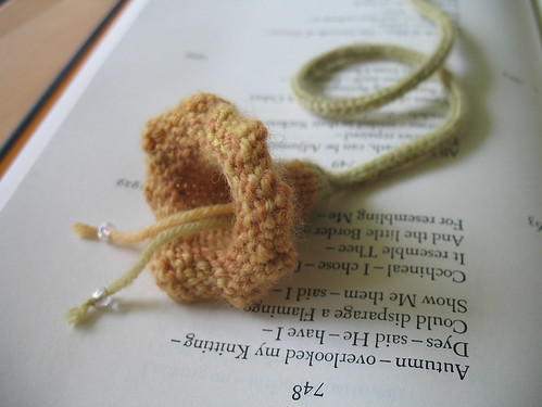 Squash Blossom Bookmark, detail
