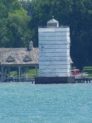 Grosse Ile North Channel Range Front Light - Images from Diamond Jack's River Tours (Wyandotte, Michigan)